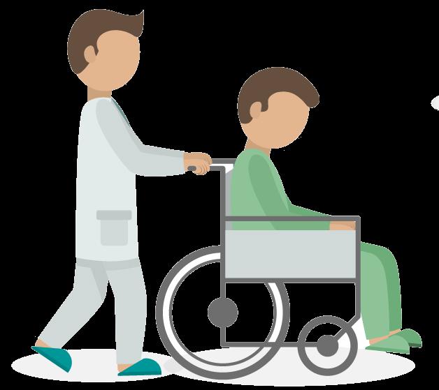 推輪椅圖示